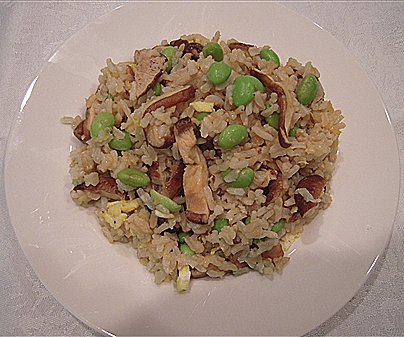 Finished Shitake Fried Rice