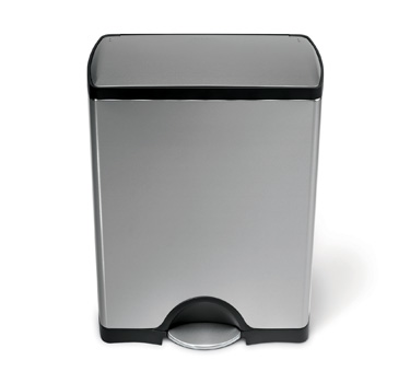 Simple Human Stainless Stell Trash Can