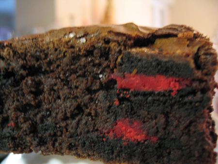 Check out that Christmas Oreo red filling!