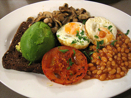 Vegetarian Big Breakfast (Flickr photo by Ellesil)