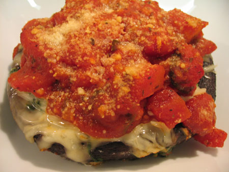 Spinach and Cheese Stuffed Portabella