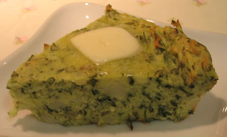 Green Potatoes with Butter