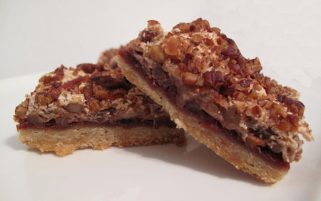 Cherry Pecan Merinque Bars