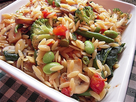 Orzo and Veggie Blends with Edamame