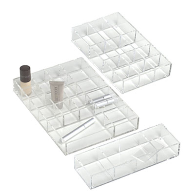 Acrylic Trays with Removable Dividers