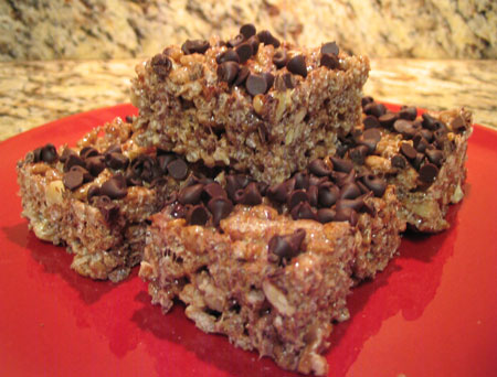 Mexican Chocolate Rice Krispie Treats