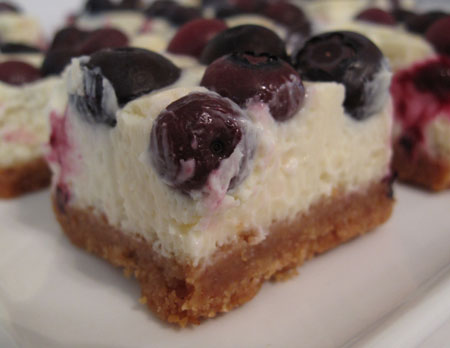 Tyler Florence's Lemon Blueberry Cheesecake Bars