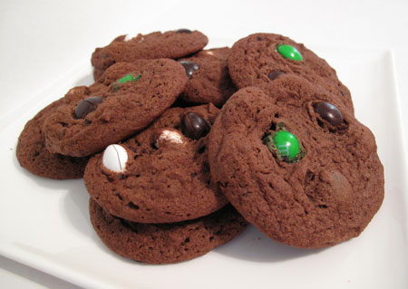 Chocolate Coconut M&M Cookies