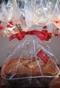 Cakes and breads were sold in big treat bags.