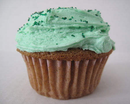 St Patricks Day Green Cupcakes
