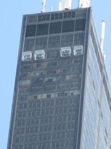 Sears Tower Ledge: look at the people!