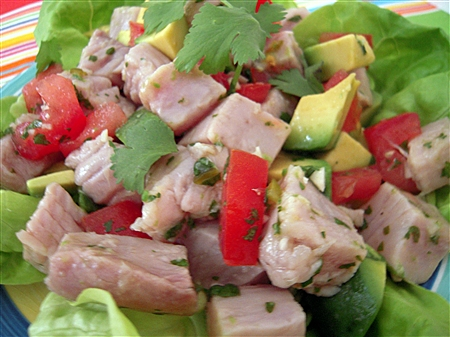 Ceviche Salad with Avocado, Cilantro, and Green Chile