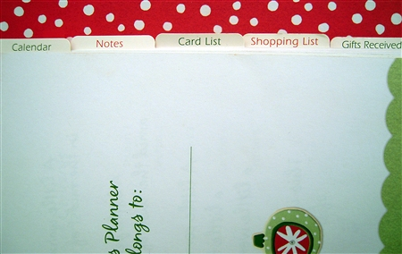 Holiday Planner Tabs