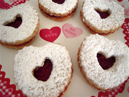 Linzer Heart Shaped Sandwich Cookies
