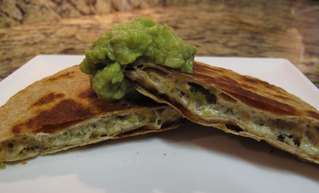 Super Bowl Vegan Shrimp Quesadilla Appetizer
