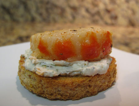 Super Bowl Vegan Shrimp Toast Appetizer