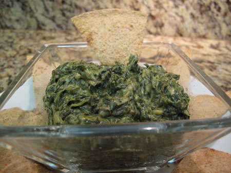 Super Bowl Vegan Spinach Dip Appetizer