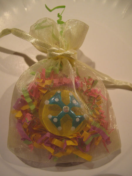 Glass Marble Magnet Favor Bag
