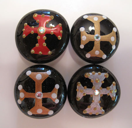 Glass Marble Magnet Done Black