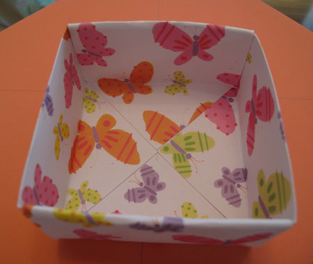 Origami Box Butterfly Inside