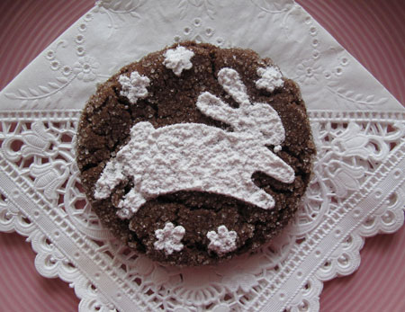 Chocolate Cookie Decorate Easter Bunny