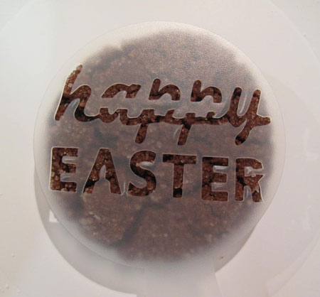 Chocolate Cookies Decorate Stencil Easter