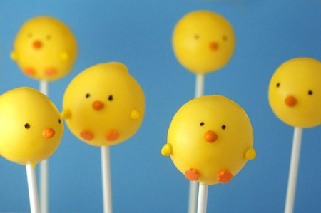 Easter Spring Chicks Cake Pops