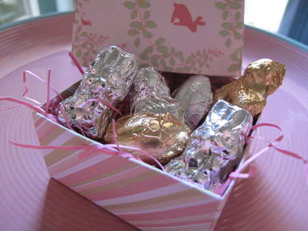 Easter Chocolate Candy Box Bunnies