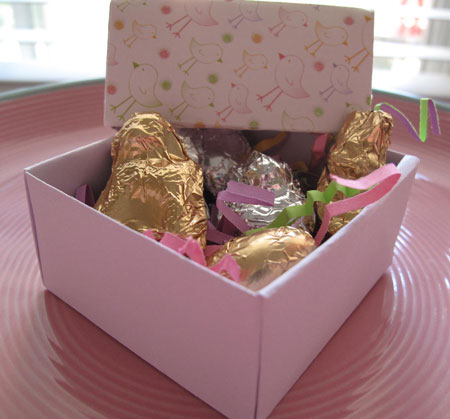 Easter Chocolate Candy Box Chicks