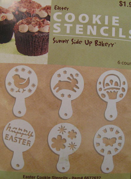 Easter Stencils Cookies Decorate