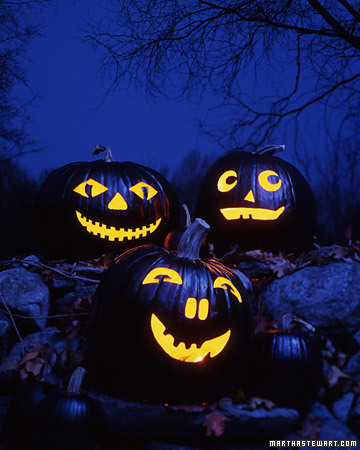 Black Magic Carved Pumpkins