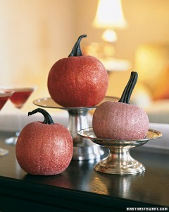 Glittered Pumpkins (photo credit: Martha Stewart)