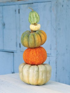 Pumpkin Tower (from Country Living Pumpkin Decorating Ideas)
