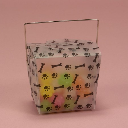 PaperMart Paw Print Wire Handle Box