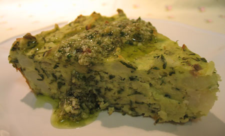 Dilled Potato Pie with Pesto