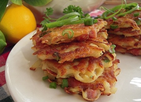 Ham and Potato Pancakes