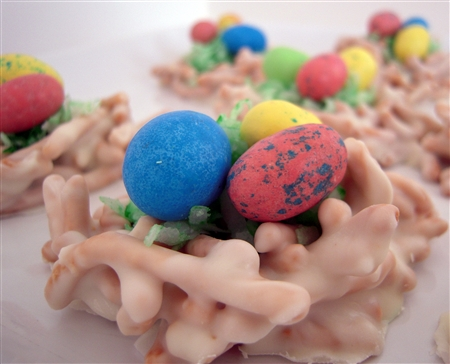 Easter Bird's Nest White Chocolate Candy