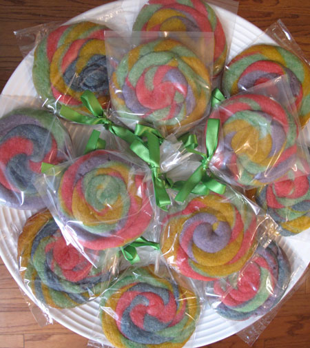 Swirled Cookie Suckers for Easter