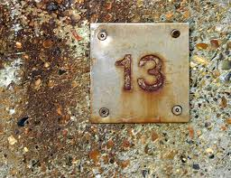 Fear of the number thirteen