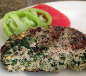 Spinach Turkey Burger