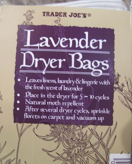 Trader Joe Lavender Dryer