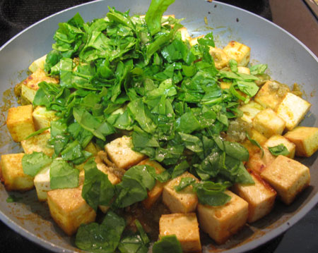 Tofu Scramble Spinach