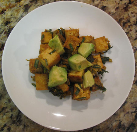Tofu Scramble Top Plate