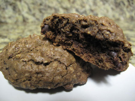 Double Chocolate Oat Vegan Cookies