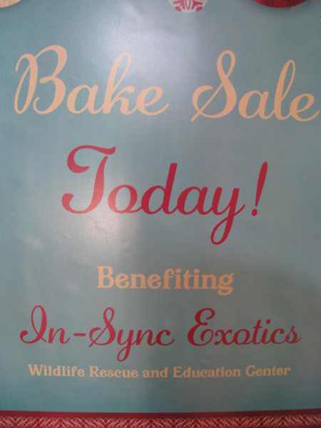 In-Sync Exotics Bake Sale