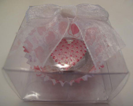 Heart Painted Glass Marble Magnet Candy Box