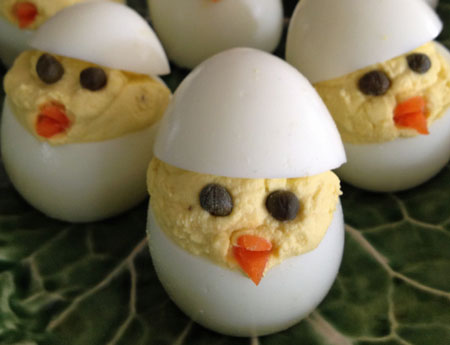 Easter Chicks Deviled Eggs