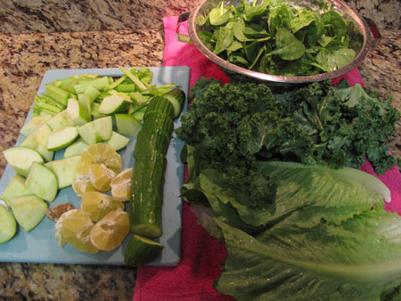 Spicy Healing Green Juice Prep Recipe