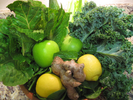 Spicy Healing Green Juice Recipe Produce